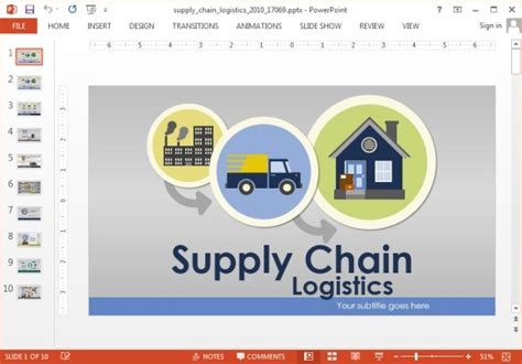 template ppt logistics free animated supply chain powerpoint template