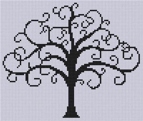 tree cross stitch pattern tree of 2 cross stitch pattern by motherbeedesigns