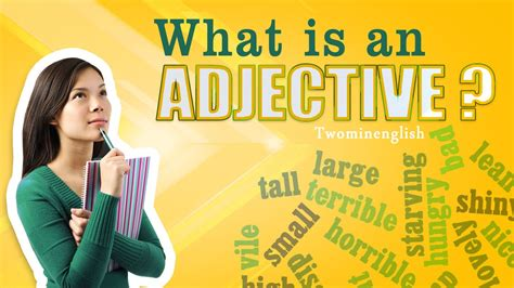 what does images in english what is an adjective english grammar lesson adjectives