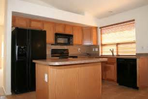 kitchen color ideas with oak cabinets and black appliances perfect for home remodeling