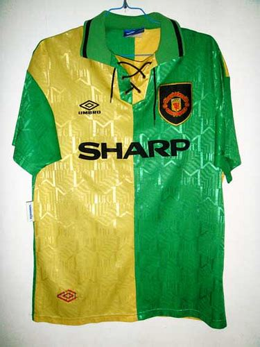 Jersey Mu 3rd 92 manchester united 3rd 92 93 epl cantona 7 green and flickr