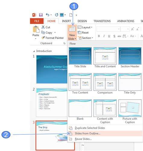 Powerpoint Outline Tab by How To Import Slides From A Word Outline Into Powerpoint Office Skills