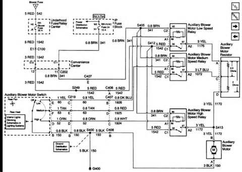 2000 chevy a wiring diagram for the blower motor express poping