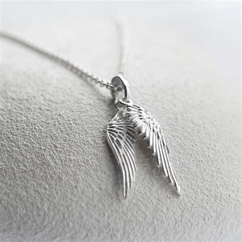 Wing Necklace sterling silver wings necklace by martha jackson