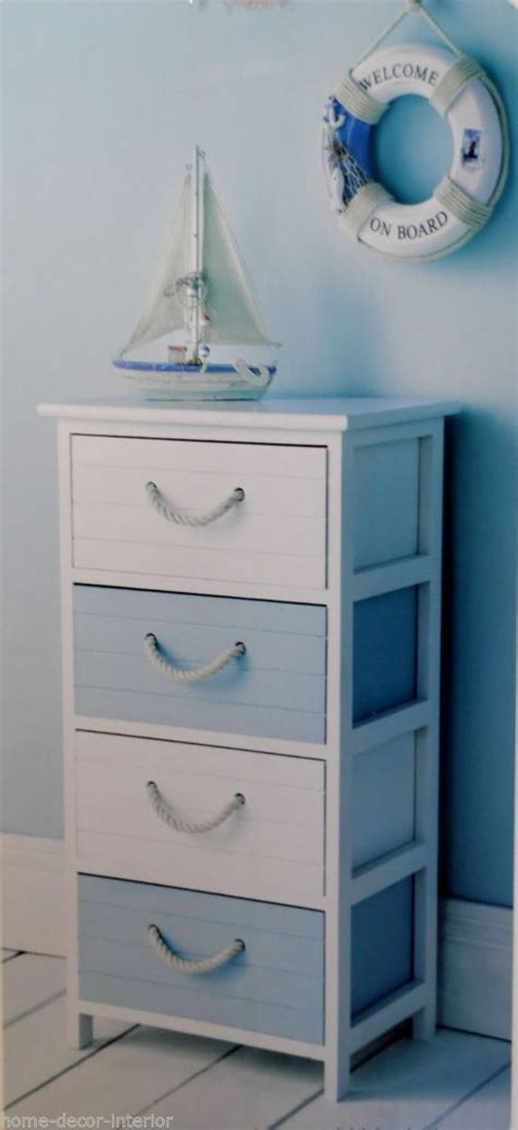 Nautical Bathroom Storage Nautical Bathroom Storage Shabby Chic Furniture Style Home Accessories Melody Maison Blue And