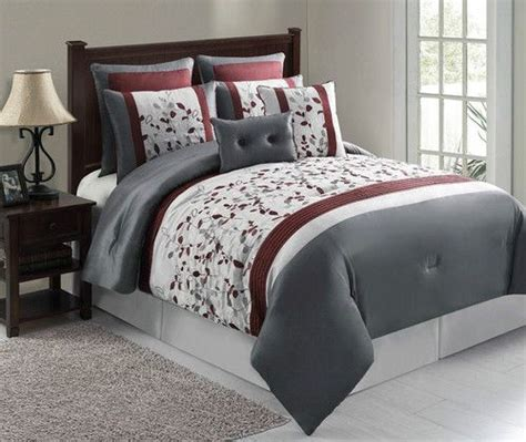 maroon bedding sets 8pc luxury bedding comforter set anastasia silver maroon