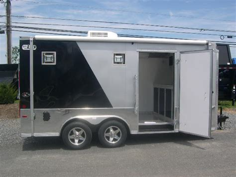 awning for enclosed trailer carmate 8 5 x 16 enclosed cargo trailer 2 tone custom