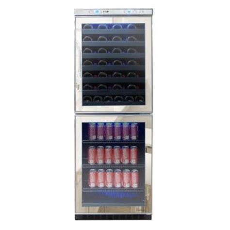 vinotemp 23 5 in 54 bottle mirrored touch screen wine and
