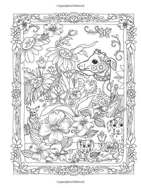 Amazon Creative Haven Dazzling Dogs Coloring Book Marjorie