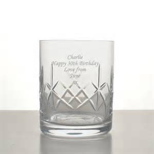 Whisky glass tumbler engraved with any message