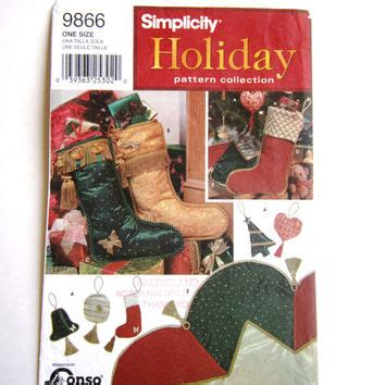 simplicity pattern for christmas stocking best christmas stocking sewing patterns products on wanelo
