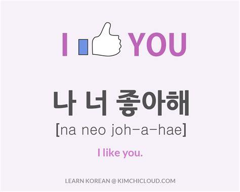 tulisan korea kim namjoon 나 너 좋아해 how to say quot i like you quot in korean kimchi cloud
