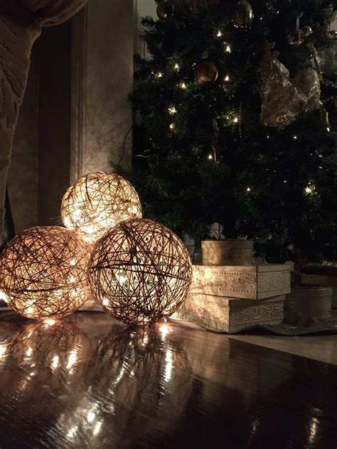 Etagere Weihnachtsdeko by Muchocrafts Twine Spheres Diy