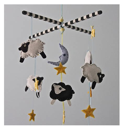 Black Crib Mobile by Items Similar To Black And White Sleepy Sheep Mobile Baby