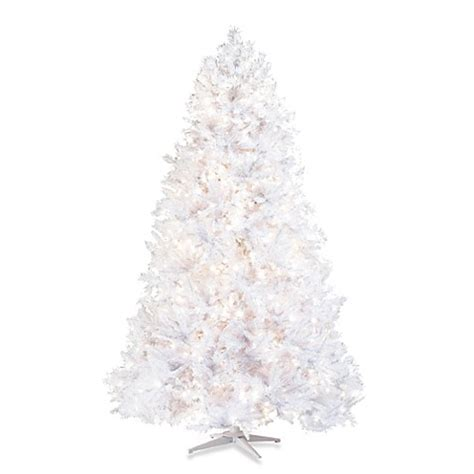 7 5 foot white christmas tree pre lit with 1200 clear