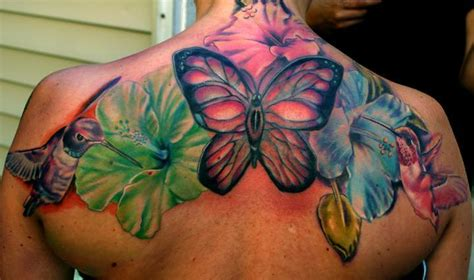 tattoo designs hummingbirds and flowers hummingbirds hibiscus flowers and a butterfly make up