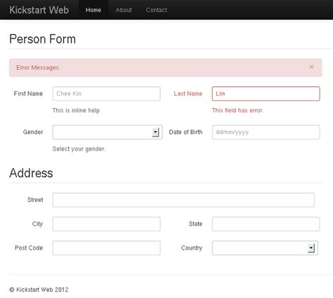 bootstrap form design layout twitter bootstrap multiple columns form layout exles