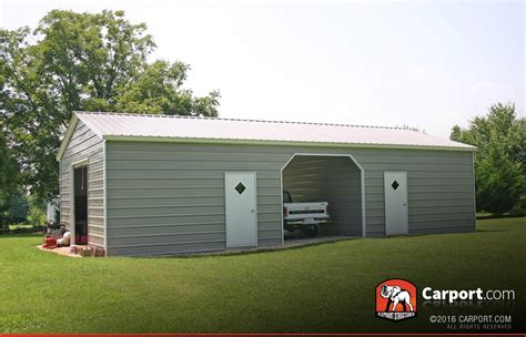 All Garage by 24 X 31 Vertical Roof Wide Metal Garage Metal
