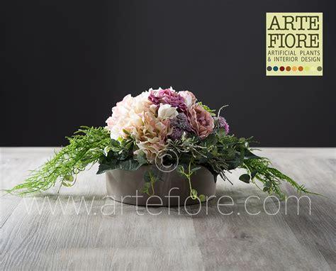 composizione di fiori artificiali composizione di fiori artificiali con ortensie e peonie rosa