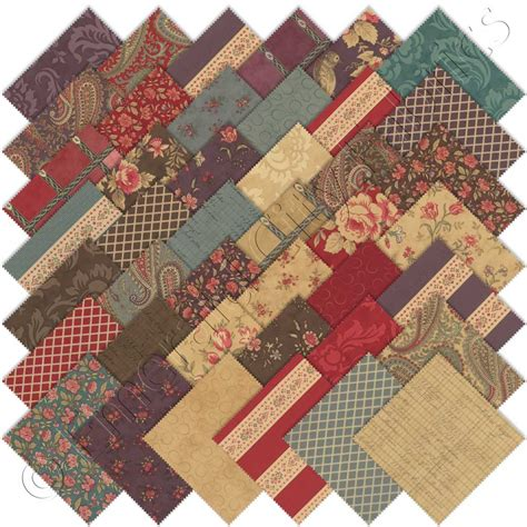Moda Quilt Fabric by Moda 3 Mille Couleurs Charm Pack Emerald City