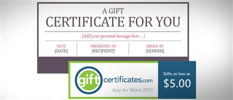 Free Certificate Template For Microsoft Word Gift Card Powerpoint Presentation Gift Certificate Template Powerpoint
