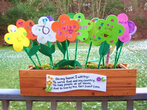 scout crafts 4 scouts flower garden
