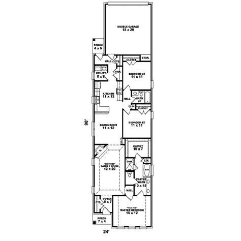 shallow lot house plans