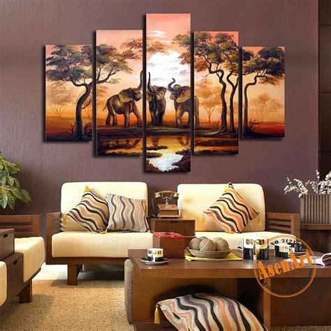 african decorations for the home aliexpress com buy handpainted 5pcs set african elephant