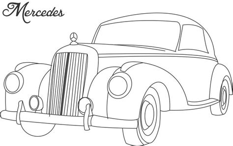 coloring page of old car vintage cars colouring pages az coloring pages