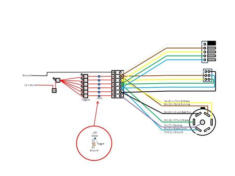 trailer light test box wiring diagram standard 7 wire
