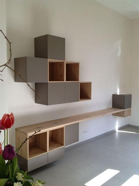 zwevende kast slaapkamer minimalistische   wandkast