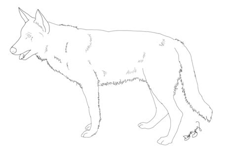 german sheperd free coloring pages