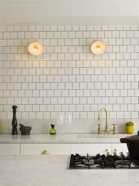 White Decor Square Tile Backsplash