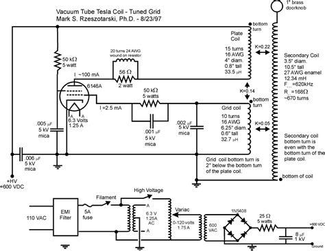 Tesla Coil Schematics Vacuum Tesla Coils