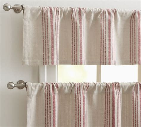 French Stripe Cafe Curtain Traditional Curtains By