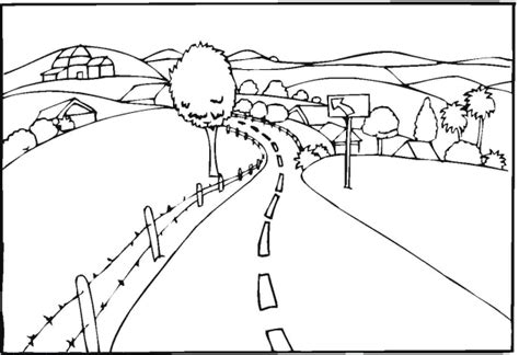 country landscape coloring page free landscape coloring pages