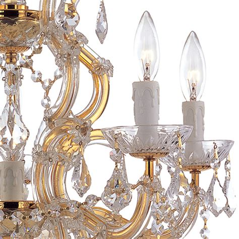 maria theresa gold crystal chandelier in white bedroom maria theresa polished gold crystal chandelier by crystorama