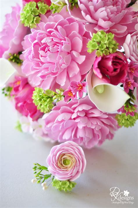 green and pink wedding bouquets dk designs pink and green bridal bouquet and boutonniere