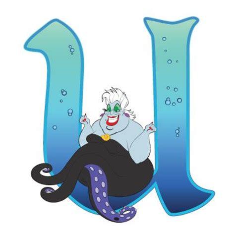 Character Letter U Disney Alphabet U For Ursula Disney Alphabet Printabl