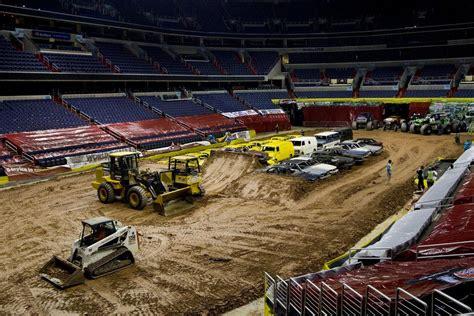 monster truck jam verizon we crush the cars inside the monster truck arena wyso