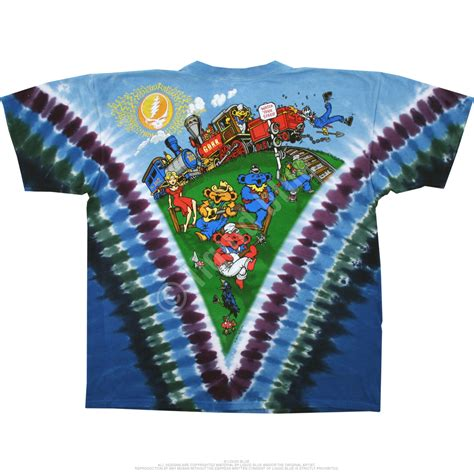 grateful dead casey jones tie dye t shirt liquid blue