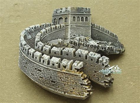 Souvenir Tempelan Magnet Great Wall China china beijing the great wall tourist travel souvenir 3d
