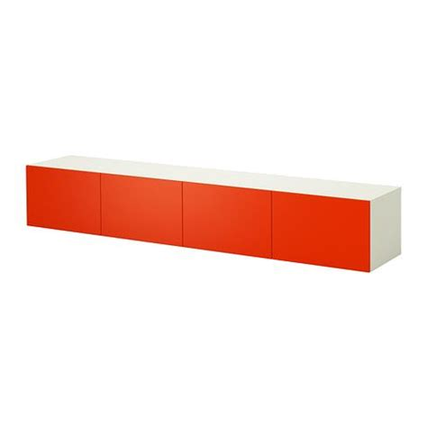 Armoire Besta by Best 197 Armoire Murale Blanc Orange Ikea Salon