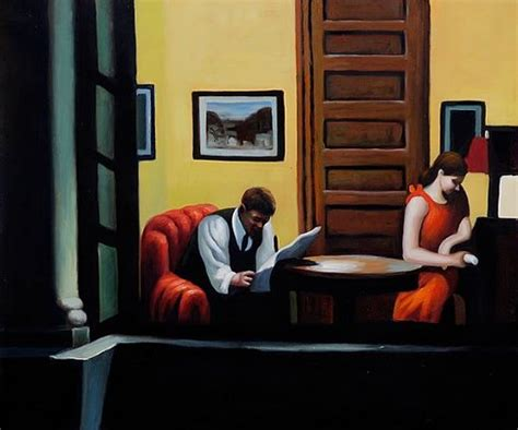 Edward Hopper Room In New York by Edward Hopper Room In New York Painting For Sale