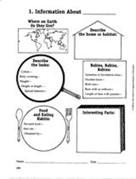 printable animal research template 1000 images about teaching science on pinterest life
