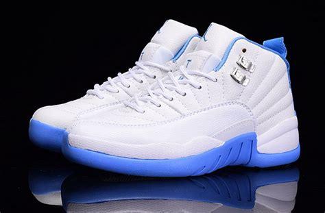 womens 12 retro shoes light blue white 75467