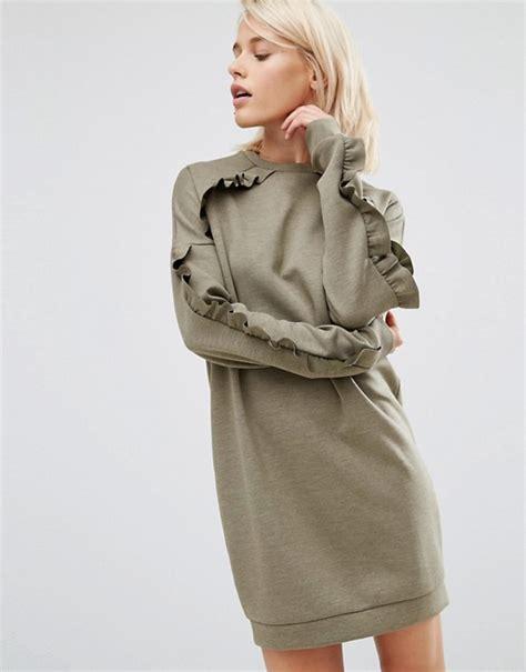 Asos Sweat Dress by Asos Asos Sweat Dress With Frill Detail