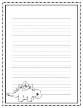 dinosaur writing paper dinosaur writing paper black and white 3 styles by