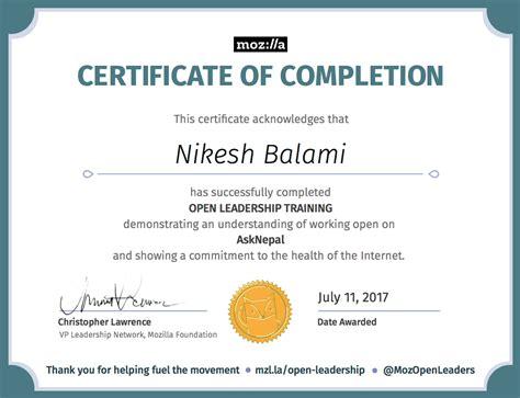 completing training certificate certificate nikesh balami