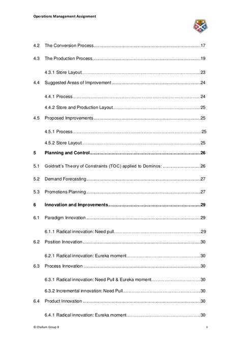 operations manager report template mba operations management assignment